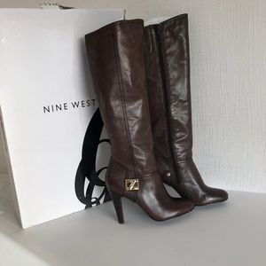 Nine West - size 8.5 - brown leather boots NEW